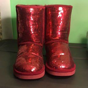 UGG Classic short Sequin boot.